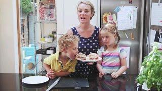 Kids Kitchen: Stripy rainbow picnic rolls