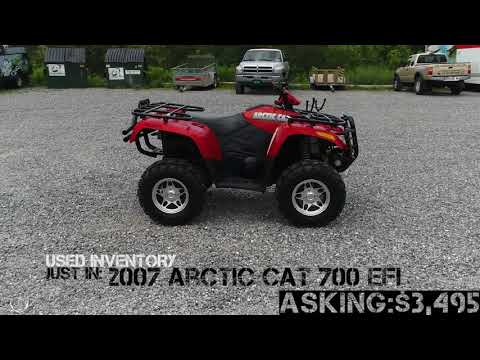 *SOLD* Arctic Cat 700 EFI ORANGE - Carns Equipment LLC Clearfield PA *SOLD*