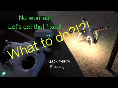 DJI Phantom - Solve Yellow Flashing Problem   MicBergsma