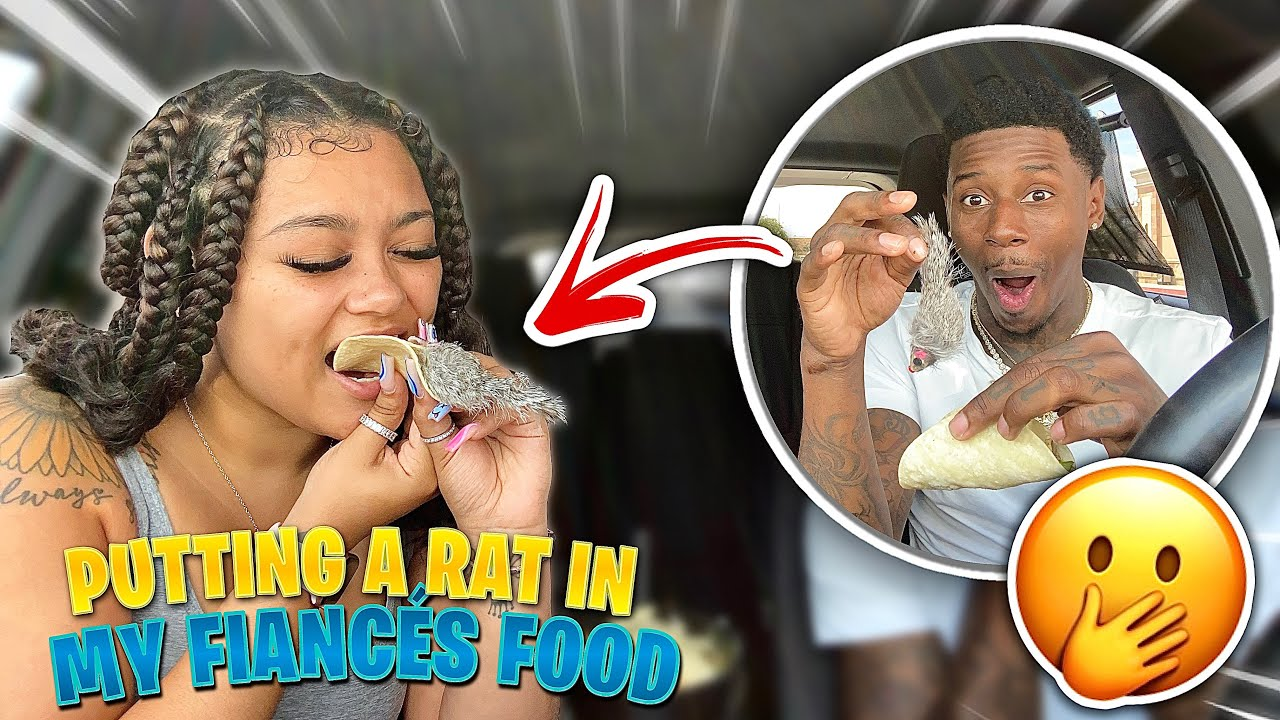 I PUT A RAT IN MY FIANCE FOOD TO SEE HER REACTION ..