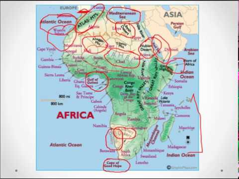 """""""AFRICA map in brief"""" for UPSC ;SSC"""