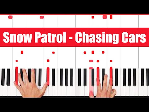 Chasing Cars Snow Patrol Piano Tutorial - EASY