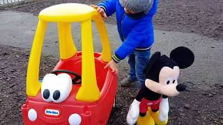 Cozy Coupe Cab at Playground  Kids Song
