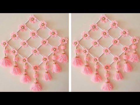 Woolen Craft Idea/How To Make Wall Hanging For Room Decor/Best Out Of Waste Woolen Door Hanging