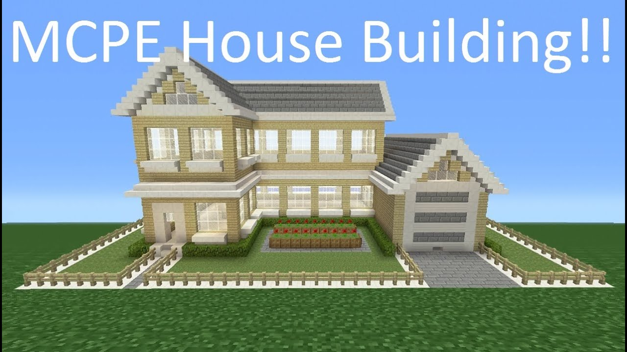how to build a big house in minecraft pe