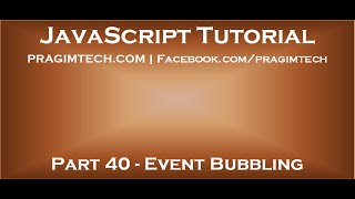 Event bubbling in JavaScript