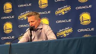 Steve Kerr tries to explain why the Warriors just don't bring it on certain nights | GSW vs Raptors