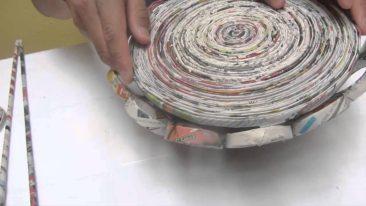 Descubre c mo hacer una canasta de peri dico paso a paso for Como hacer una pileta de material paso a paso