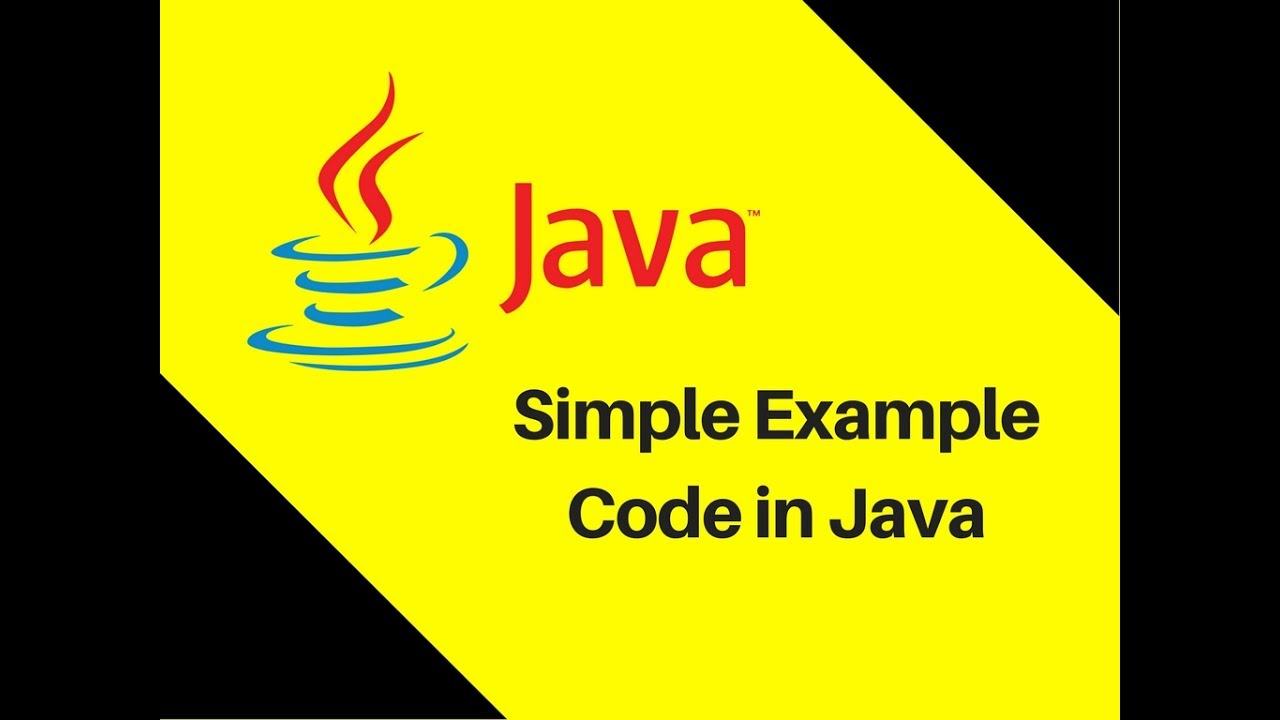 Simple java tutorials image collections any tutorial examples 15 simple example code in java java tutorial youtube 15 simple example code in java java baditri Image collections
