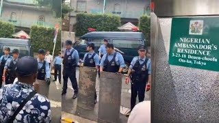 IPOB Members Storm Nigerian Ambassadors Residence In Japan To Arrest Buhari And Test His DNA