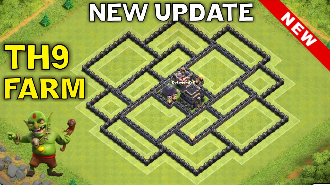 New update th9 farming base th11 december update th9 hybrid