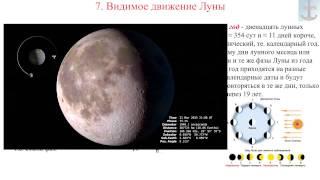 7. Видимое движение Луны