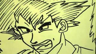 How to Draw GOKU from DRAGON BALL Z in SECONDS!/ Como dibujar a Goku