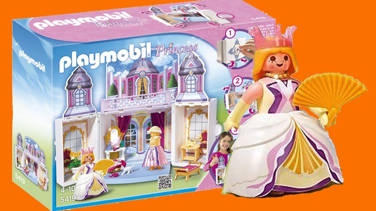 cofre castillo de princesas de playmobil youtube