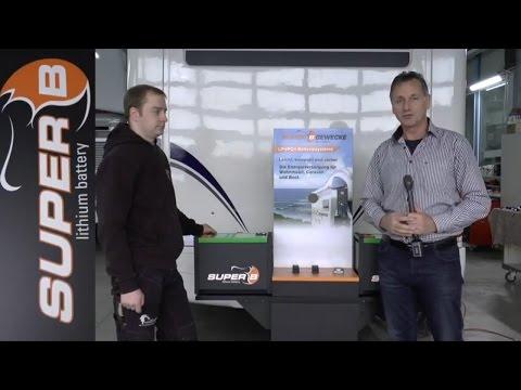 Super B Lithium Batterien on Board / womoclick.de
