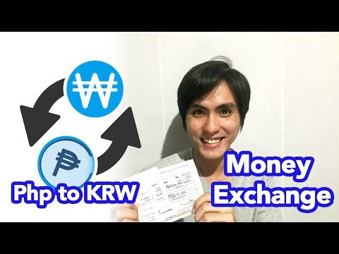 Money Exchange in Manila (Philippine Peso to Korean Won)