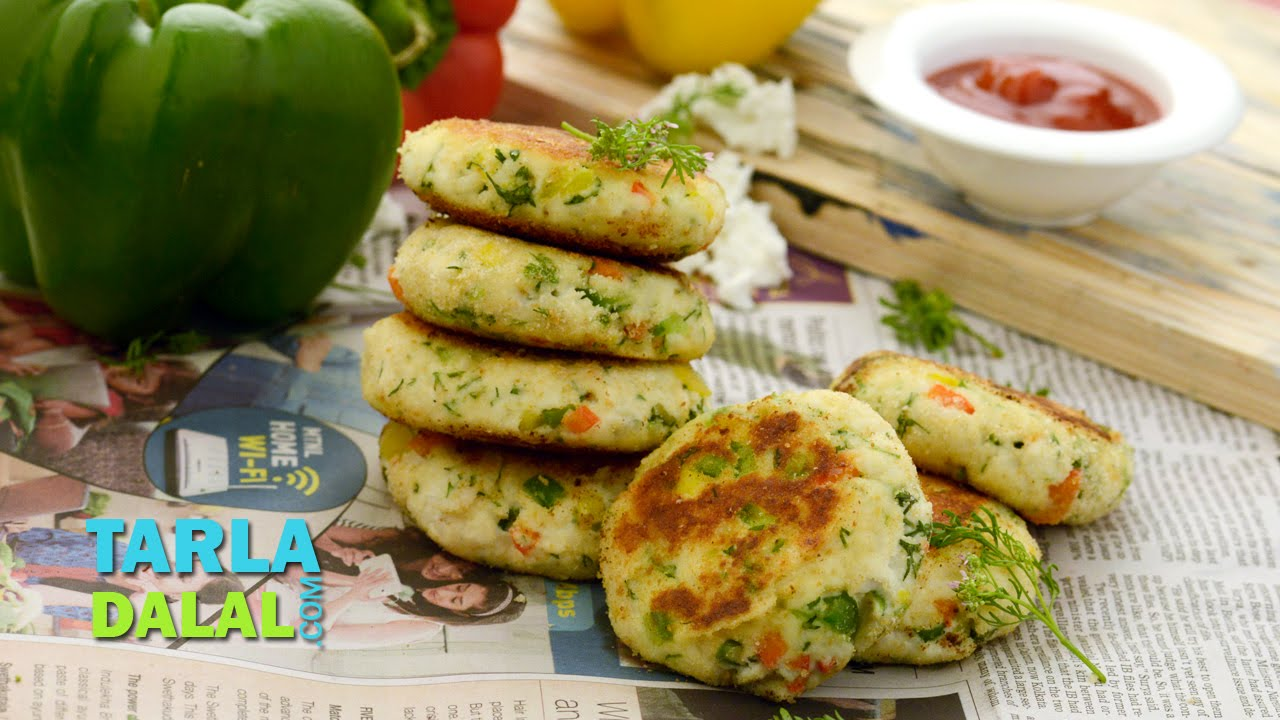 cottage cheese cutlets jain cottage cheese cutlets jain easy paneer cutlet tikki by tarla dalal youtube forumfinder Images