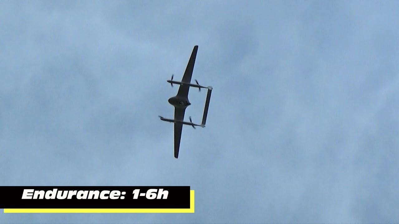 X-Chimera: 6 Hours Endurance Electric Fixed Wing VTOL UAV