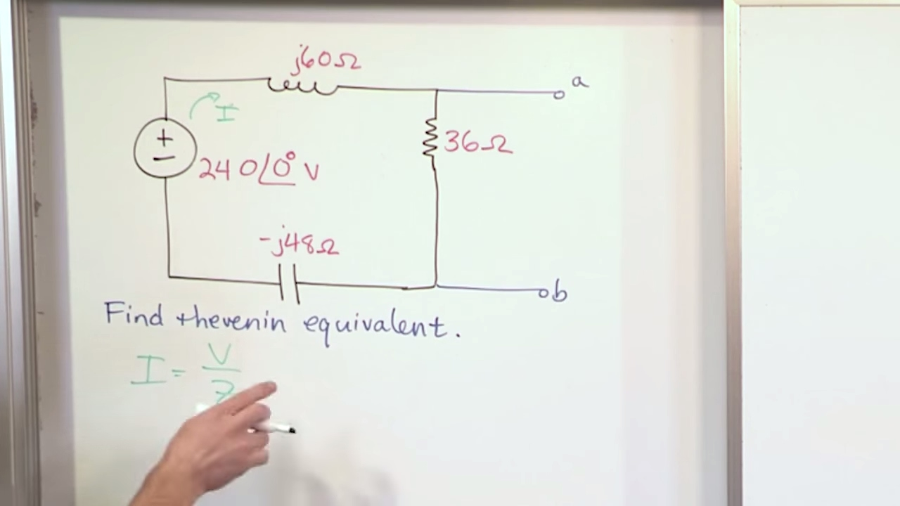 Lesson 2 Ac Thevenin Equivalents Part 1 Circuit Analysis Equivalent With Current And Voltage Source