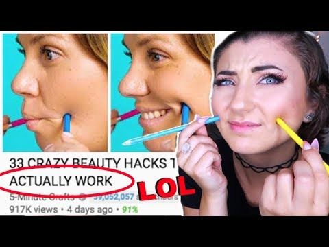 Testing 33 CRAZY BEAUTY HACKS THAT ACTUALLY WORK by 5 Minute Crafts