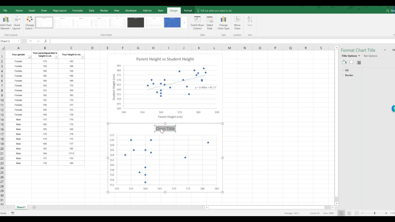 Excel Scatter Plot Template