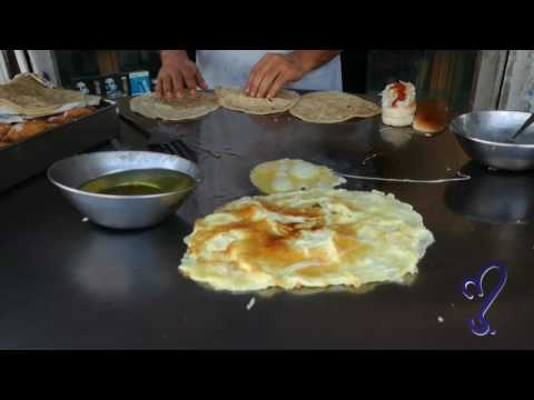 Egg Roti Street food of Karachi, Pakistan.