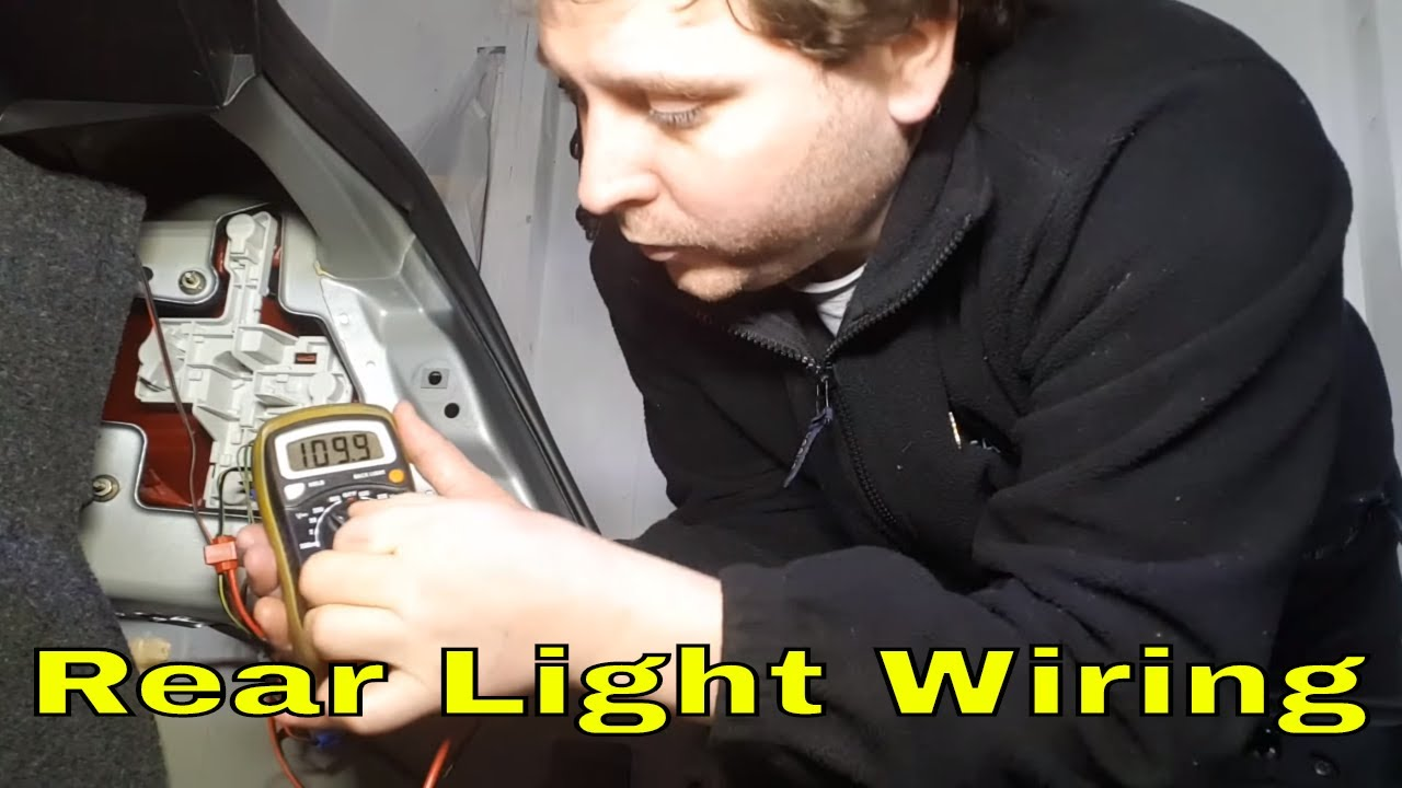 how to check the rear light cluster wires on a ford mondeo mk3 [ 1280 x 720 Pixel ]
