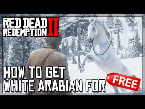 RDR2 White Arabian Horse for FREE - How To Get Best Horse in RDR2 for FREE!