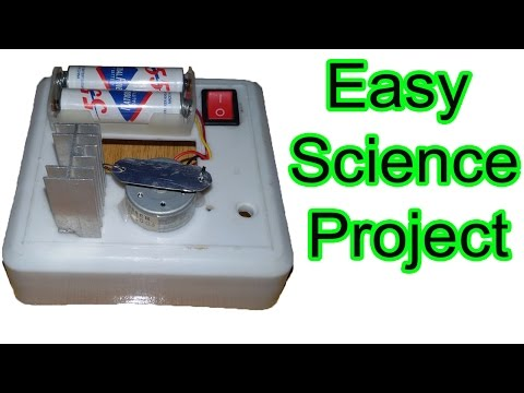 How to make simple door bell, doorbell or table bell, science fair projects, easy science projects
