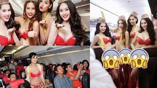 Wow! Bikin Heboh Penampakan Pramugari Maskapai VietJet yang Memakai Bikini