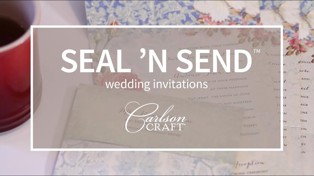 Seal n Send wedding invitations YouTube