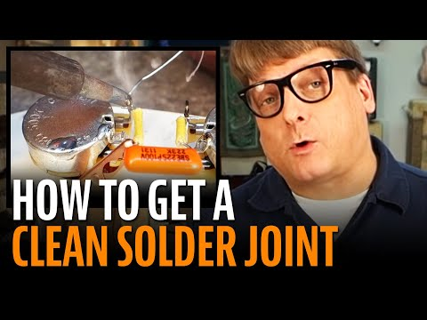 Guitar wiring: how to get a good clean solder joint!