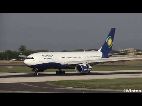 RwandAir A330 9XR-WN landing Runway31 at Malta International Airport