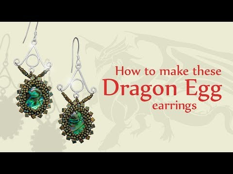 How To Make These Dragon Egg Earrings | Seed Beads Jewellery Tutorial