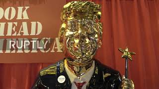 USA: Golden statue of Trump greets attendees at CPAC conference in Orlando, From YouTubeVideos