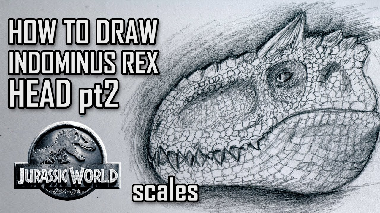 How to draw indominus rex scales jurassic world youtube - How To Draw Indominus Rex Scales Jurassic World Youtube 8