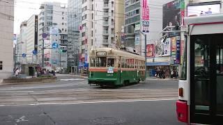 広島電鉄1900形1909号『清水』八丁堀にて