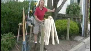 Installing A Picket Fence : How To Square And Plum A Picket Fence