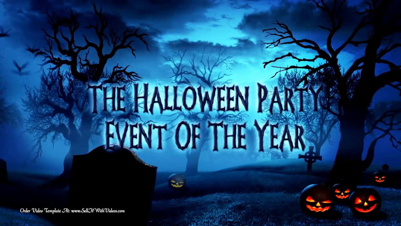 halloween party invitations - spooky holiday invitations - halloween video templates