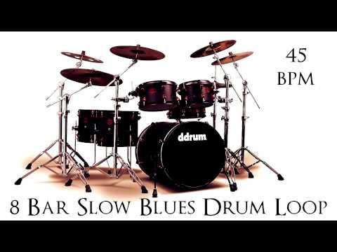 8 Bar Slow Blues Drum Loop 45 bpm