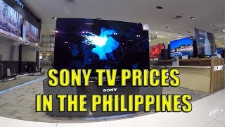 Sony TVs Cash and Credit Prices In The Philippines