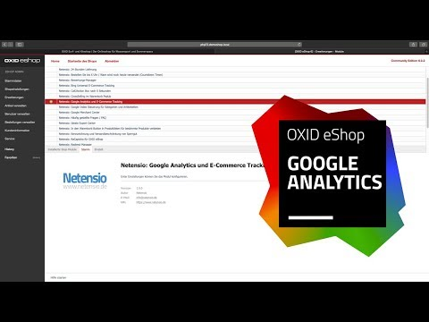 OXID eShop Modul:  Google Analytics & Adwords Conversion Tracking
