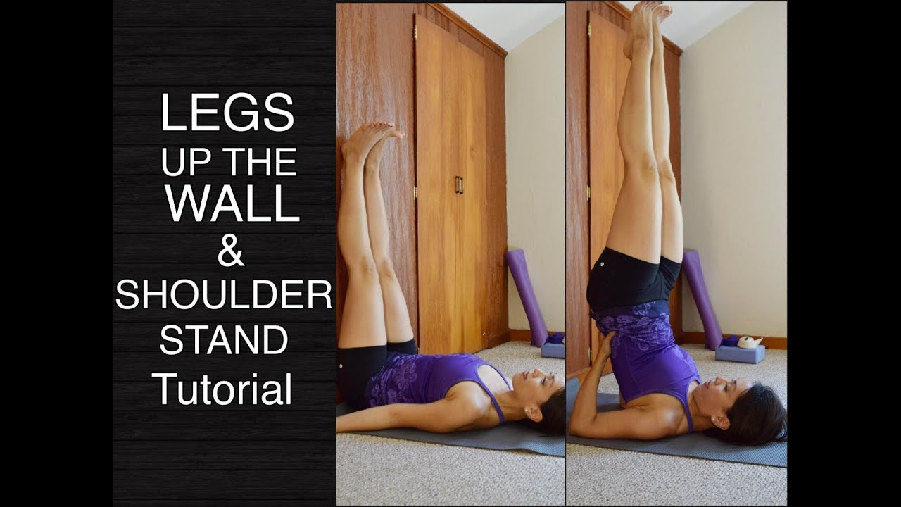 Shoulder Stand Against Wall