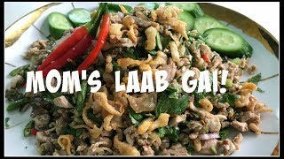 How to make LAAB GAI | MINCED CHICKEN SALAD | House of X Tia