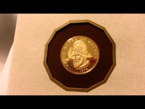 1975 Panama 100 Balboa 22K .900 Fine Gold Coin from Panama 75,000 Minted