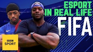 Can a pro FIFA player take on a real footballer? | BBC Sport thumbnail