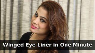 Self Makeup Tutorial - Winged Eyeliner in One Minute Thumbnail