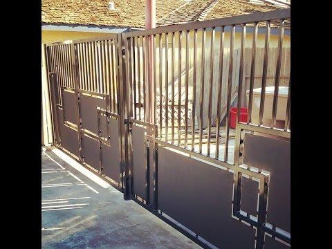 Mid Century Modern Inspired Contemporary Custom Iron Gate