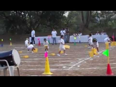 Sports Day, Kindergarten 1 Race. Leapbridge School, Pune, Aundh Section
