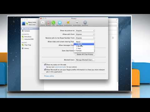 How To Control Storage Of Chat History In Skype® For Mac®